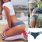 Women Bikini Low Waist Jeans Denim Pants Shorts Sexy Bottom Mini Thongs Clubwear