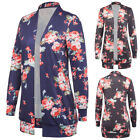 GK Women's Open Front Coat Long Sleeve Knitted Cardigan Tops Loose Casual Jacket