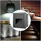 2/4/8Pcs 2W LED Outdoor Stair Step Floor Lamp Wall Plinth Corner Emembed Lights