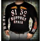 49 Hells Angels Support81 Black Long Sleeve T-Shirt Front and Backprint