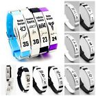 Внешний вид - NBA PLAYERS Silicone Wristband Adjustable Silver Bracelet Curry Lebron Kobe KD