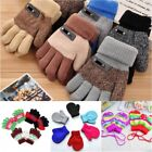 US Toddler Kids Baby Girls Boys Soft Warmer Gloves Winter Knitted Mittens 2-10Y