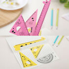 4PCS/Set School Maths Geometry Flexible Set Ruler Squares Angles Protractor