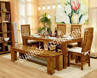 Stylish Wooden Dining table / Chair / Bench furniture set (DSET148/149)