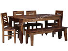 Contemporary Wooden Dining Table with 4 Chair & 1 Bench Set (DSET674)