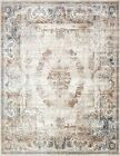Traditional Vintage Style Persian Rug Design Oriental Faded Beige Carpet