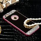 Bling Glitter Diamond Mirror Shockproof Case Cover For Samsung Galaxy iPhone 7 6