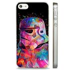 Colourful Stormtrooper Star Wars CLEAR PHONE CASE COVER fits iPHONE 5 6 7 8 X $7.35 USD on eBay