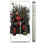 Deadpool Throne DC Comic Movie CLEAR PHONE CASE COVER fits iPHONE 5 6 7 8 X