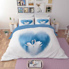 3D Swan Lake Nature7 Bed Pillowcases Quilt Duvet Cover Set Single Queen AU Carly
