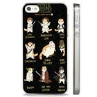 Stars Wars Paws Cat Funny Joke CLEAR PHONE CASE COVER fits iPHONE 5 6 7 8 X