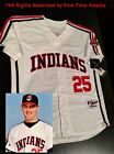 Jim Thome Cleveland Indians Early 90s Rickey Vaughn ERA Mens Throwback Jersey