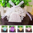 50pcs 3D Hollow Butterfly Candy Box Wedding Party Favors Sweet Gifts Boxes Bag