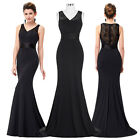 Womens Sleeveless Fishtail Wedding Evening Cocktail Formal Prom Party Long Dress
