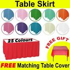 Plastic table skirt Table Cloth Cover Party Catering  Tableware Banquet cover