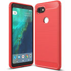 For Google Pixel 2 / 2XL Ultra Thin Rubber Leather Bumper TPU Shockproof Case