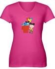 Stitch and Snoopy Mash-up - Women's V-Neck Shirt