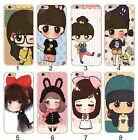 Cover case cartoons ragazze alarm clocks for models Samsung Galaxy & IPhone
