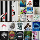 mustache shower curtain - Waterproof Bathroom Shower Curtain Polyester Fabric 3D Animal Flower Printing