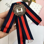 Elegant Womens Shirt Diamond pearl bow tie Bow Tie Bow Collar With Brooch
