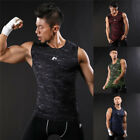 Men's Sleeveless Muscle Vest Athletic Sport Tight-fitting Tank Tops Undershirt