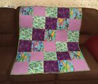 """New Handmade 38"""" X 45"""" baby quilt. Quilted. 100% cotton fabric. multi-colored"""