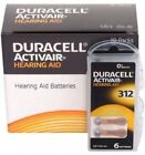 Fresh Lot 6 to 300 Duracell Activair Hearing Aid Batteries Size 312 Exp 08 2021