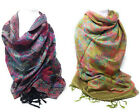 New Pashmina Wrap Womans Floral Stole Evening Cover Up Hijab Tassel Scarf Cheap