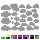 27 Cloud Stickers Set Any Colour Wall Laptop Glass Car Vinyl Wall Art Name