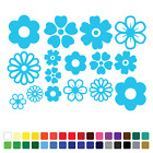 16 Flower Stickers Set Any Colour Wall Laptop Glass Car Vinyl Wall Art Bedroom 1
