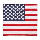 "NEW  U.S. FLAG BANDANA red white & blue  21"" X 21"" DURABLE 100% POLYESTER"