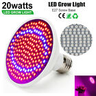 20W E27 LED Grow Light 200 LEDs Plant Growing Lamp Bulbs For Indoor Hydroponics