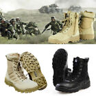 USA Tactical Mens Military Side Zip Plain Toe Boot Deployment Combat Boot Shoes