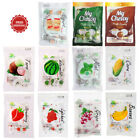 Внешний вид - Haoliyuan Chewy Fruits Milk Candy Banana Corn Lychee Grape Taro Watermelon 67 g.