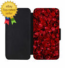 Rose Petals Leather Wallet Phone Case iPhone 5 6 7 8 X +