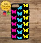 Phone Case Butterfly Print Pattern iPhone 4 5 6 7 Plus Galaxy S6 S7 S8 Note Edge