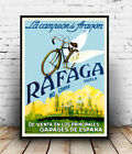 Rafaga : Vintage  Spanish Cycle Advertising, Wall art , poster, Reproduction.