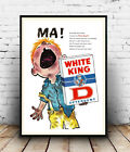 White Knight : Vintage Detergent advertising , Wall art , poster, Reproduction.