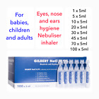 Sterile Saline Solution NaCl 0,9% Nebulizer Nose Ear Eye Lens Wash FREE DELIVERY