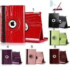 "Flip Cover custodia Case in pelle coccodrillo per Apple IPad 2 3 4 9.7"" + vetro"
