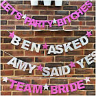 Personalised engagement party banners Engagement party decorations Team Bride