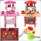 Electronic Children Kids Kitchen Cooking Girls Boy Toys Cooker Play Set Red Pink