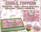 Camo Princess Edible Cake topper camouflage girl pink image sugar paper cupcakes