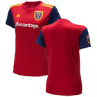 adidas Real Salt Lake RSL MLS 2018 Womens Soccer Home Jersey Red - Gold - Navy