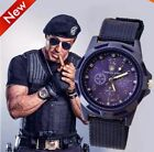 Men Military Army Analog Digital Quartz Nylon Canvas Wrist Watch Sport  image