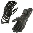 Mens Lightweight Leather Motorcycle Gloves