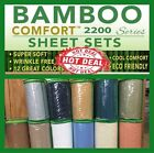 Bamboo Comfort Sheet Set W/ Deep Pockets to Fit Extra Thick Mattress All Colors! image