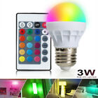 how to change spotlight bulb - 3W Dimmable E27 RGB LED Light Bulb Color Changing Spotlight Globe Lamp+IR Remote