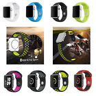 Replacement Silicone Wrist Bracelet Sport Band Strap For Apple Watch 38mm / 42mm