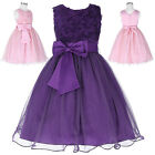 Kids Flowers Girls Princess Bridesmaid Wedding  Birthday Party Prom Tutu Dress